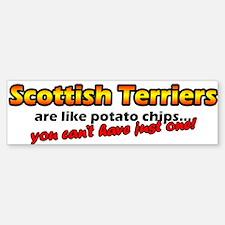 Potato Chips Scottish Terrier Bumper Bumper Bumper Sticker