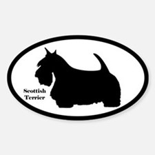 Scottish Terrier Silhouette Sticker (Euro-Style)