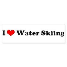 I Love Waterskiing Bumper Bumper Sticker