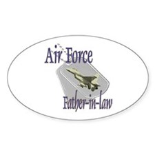 Jet Air Force Father-in-law Oval Decal