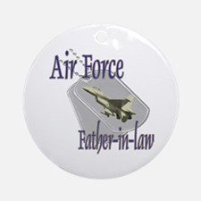 Jet Air Force Father-in-law Ornament (Round)