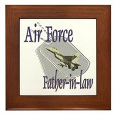 Jet Air Force Father-in-law Framed Tile