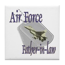 Jet Air Force Father-in-law Tile Coaster