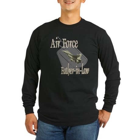 Jet Air Force Father-in-law Long Sleeve Dark T-Shi