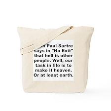 Jean paul sartre Tote Bag