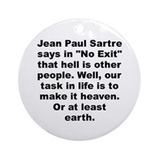 Cool Jean paul Ornament (Round)