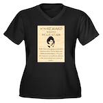 Belle Starr Women's Plus Size V-Neck Dark T-Shirt