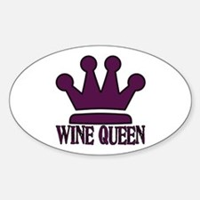 Wine Queen Oval Decal