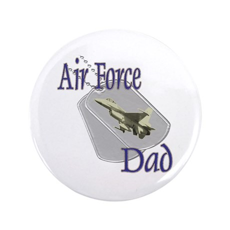 "Jet Air Force Dad 3.5"" Button"