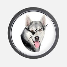 Siberian Huskie Picture Wall Clock