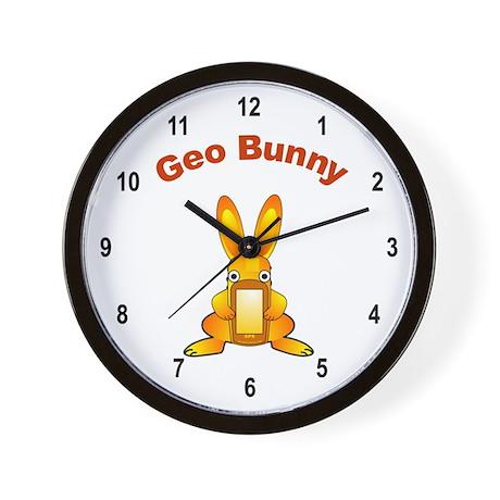 Geo Bunny Wall Clock