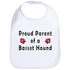 Proud Parent of a Basset Houn Bib