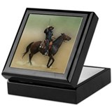 Vintage horse Square Keepsake Boxes