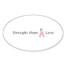 Strength Hope & Love Oval Decal
