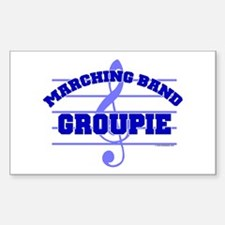 Marching Band Groupie Rectangle Decal