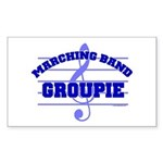 Marching Band Groupie Rectangle Sticker