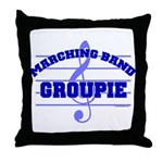 Marching Band Groupie Throw Pillow