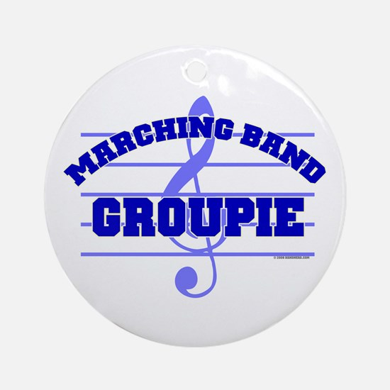 Marching Band Groupie Ornament (Round)