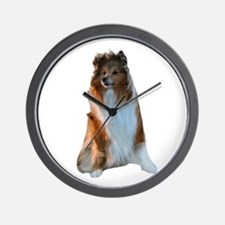 Shetland Sheepdog Picture - Wall Clock