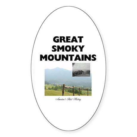 Smoky Mountains Americasbesthistory Sticker (Oval)