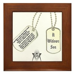 Masons Dog Tag Poem Framed Tile