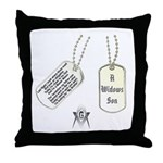 Masons Dog Tag Poem Throw Pillow