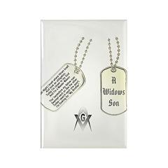 Masons Dog Tag Poem Rectangle Magnet (100 pack)