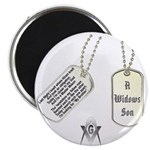 Masons Dog Tag Poem Magnet