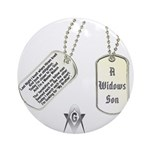 Masons Dog Tag Poem Ornament (Round)