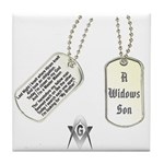 Masons Dog Tag Poem Tile Coaster