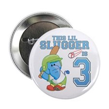 "Elephant 3rd Birthday Slugger 2.25"" Button"