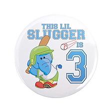 "Elephant 3rd Birthday Slugger 3.5"" Button"