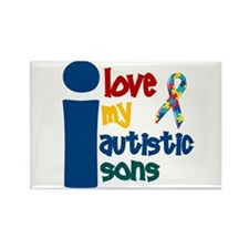 I Love My Autistic Sons 1 Rectangle Magnet