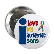 "I Love My Autistic Sons 1 2.25"" Button (10 pack)"