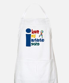 I Love My Autistic Sons 1 BBQ Apron