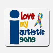 I Love My Autistic Sons 1 Mousepad