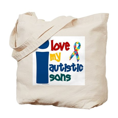 I Love My Autistic Sons 1 Tote Bag