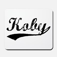Vintage Koby (Black) Mousepad