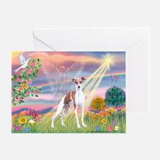 Cloud Angel / Ital Greyhound Greeting Card