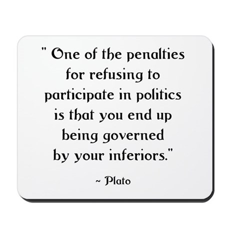 Plato Quote #1 Mousepad