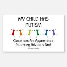 My Child Has Autism Rectangle Sticker 10 pk)
