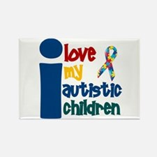 I Love My Autistic Children 1 Rectangle Magnet (10