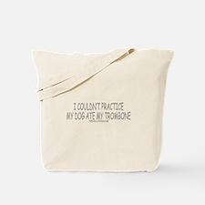Dog Ate Trombone Tote Bag