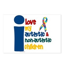 I Love My Autistic & NonAutistic Children 1 Postca