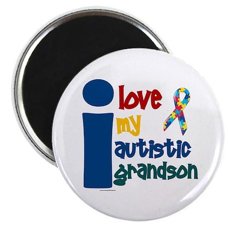 I Love My Autistic Grandson 1 Magnet