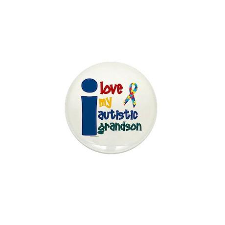 I Love My Autistic Grandson 1 Mini Button (10 pack