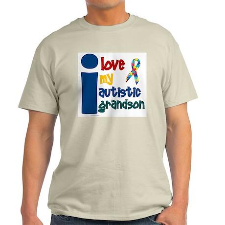 I Love My Autistic Grandson 1 Light T-Shirt