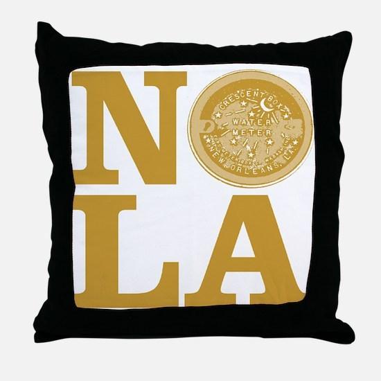 NOLa Water Meter Cover Throw Pillow