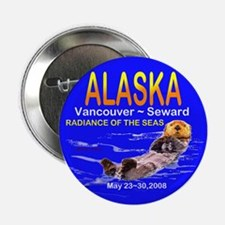 "Alaskan Sea Otter 2.25"" Button"
