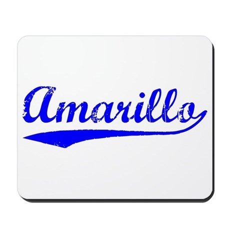 Vintage Amarillo (Blue) Mousepad